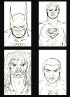 quick sketches DC heros by westwolf270