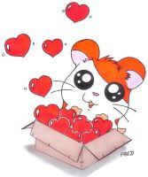 Hamtaro's  hearts  box by fredvegerano