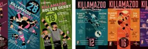 KILLAMAZOO DERBY DARLINS Poster Set by PaulSizer