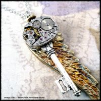 Steampunk Key Wing Series 002 by SoulCatcher06