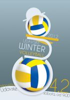 poster for Udavske winter volleyball cup 2012 by MOREKJAN