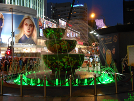 fountain at entrance of Pavillion by K4nK4n