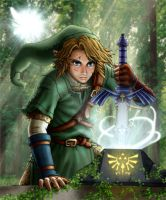 Link in Lost Woods by l-gray-l