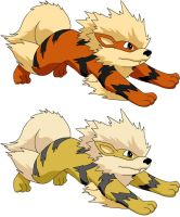 Arcanine - My first request by Sajirou