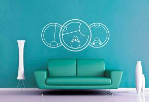 Dr Who - Gallifreyan - I Love You Wall Decal by GeekeryMade