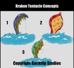 Kraken Tentacle Concepts by pinkhavok