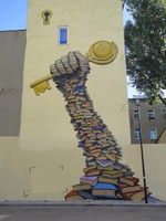 Street Art Books are the keys to another world by fallenintotartarus