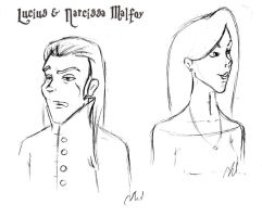 HP- Lucius And Narcissa Malfoy by c-t-supahfly