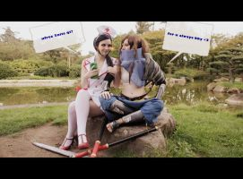 League of Legends - Akali x Yasuo Cosplay: Rest! by TaijoTama