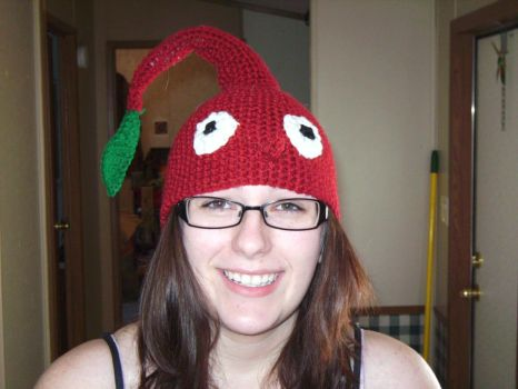 Red Pikmin Hat by MaculaMaster734