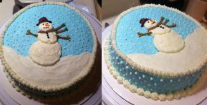 Snowman Cake by Raineforst