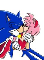 sonamy kiss X3 by roxythehedgehog1010