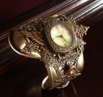 Steampunk Watch Floral-5 by Aranwen