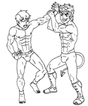 Wristlock - Lineart - Commission #053 by 09tuf