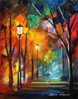 Scary moments oil painting on canvas by L.Afremov by Leonidafremov