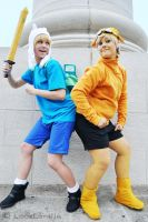 Finn and Jake by LauzLanille