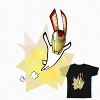 Iron Bunny Tee by dorashouldprint