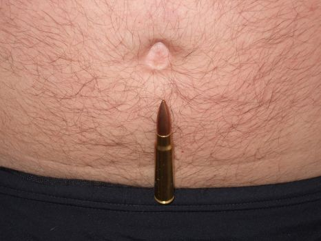 Rifle Bullet and Belly Button by buttoneer