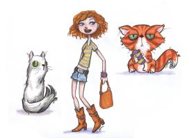 gingers..and cats by VODKABABY
