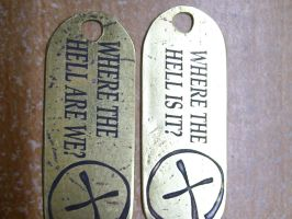 Geocache keychains by creativeetching