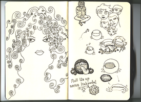 Small sketchbook p.10-11 by Hemato