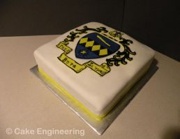 TBS Crest Cake by cake-engineering
