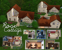 Sims 3 Lots: Rose Cottage by DOMOodo