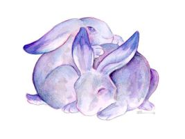 Blue Bunnies by ursulav