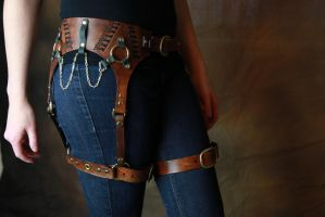 Steampunk Leather Harness by AverusX