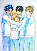 Group hug by kurobas