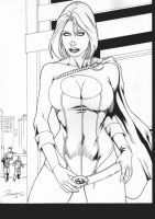 POWER GIRL - PENCIL and INK - by REGINALDO SOUZA by Ed-Benes-Studio