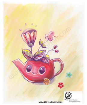 Tea time spring by Gloria-T-Dauden