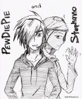 PewDiePie and Stephano by StarkFire97