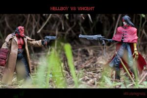 Hellboy vs Vincent by z3LLLL