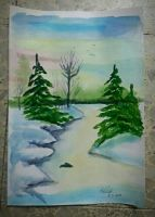 Wintry Forest by FluffyAlice1
