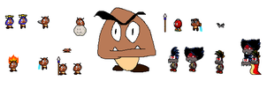 goomba sprites and more by Ryanfrogger