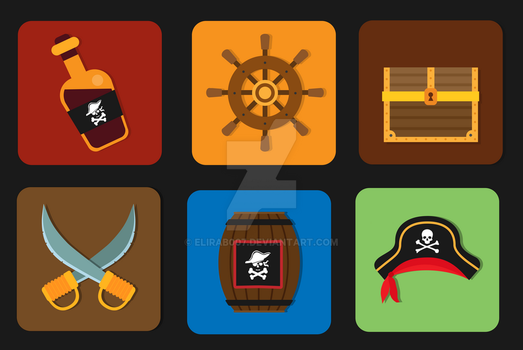 Pirates Icon Pack by elirab007