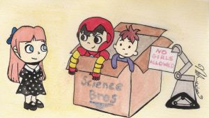 Baby Avengers: Baby Pepper and The Science Bros by ShibbyOfSpades