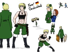 Just Fem!Germany by Humblehistorian