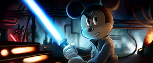 Mickie Mouse:Star Wars Hybrid by otherworldmedia