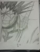 Kenpachi Zaraki sketch by cosmic-owl93