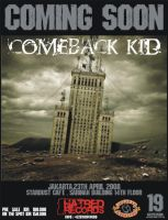 Comeback Kid flyer show by pixellkiller