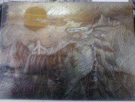 Etching in progress by LupaSenzaLuna