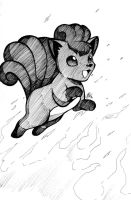 Inktober 2016 Day 10: Leaping Vulpix by Smudgeandfrank