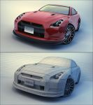 Nissan GTR by Tom-3D