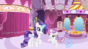 Rarity and Sweetie Bell by Passionateshadow