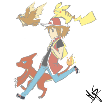 Pokemon FireRed by MaggieSoup