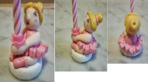 Birthday Candle Holder - Pink Ballerina by tyney123