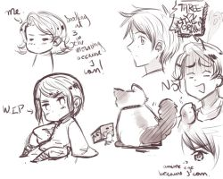 Doodles at three in the morning by NessieMcCormick