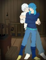 Clear and Aoba dancing by FuwafuwaClear